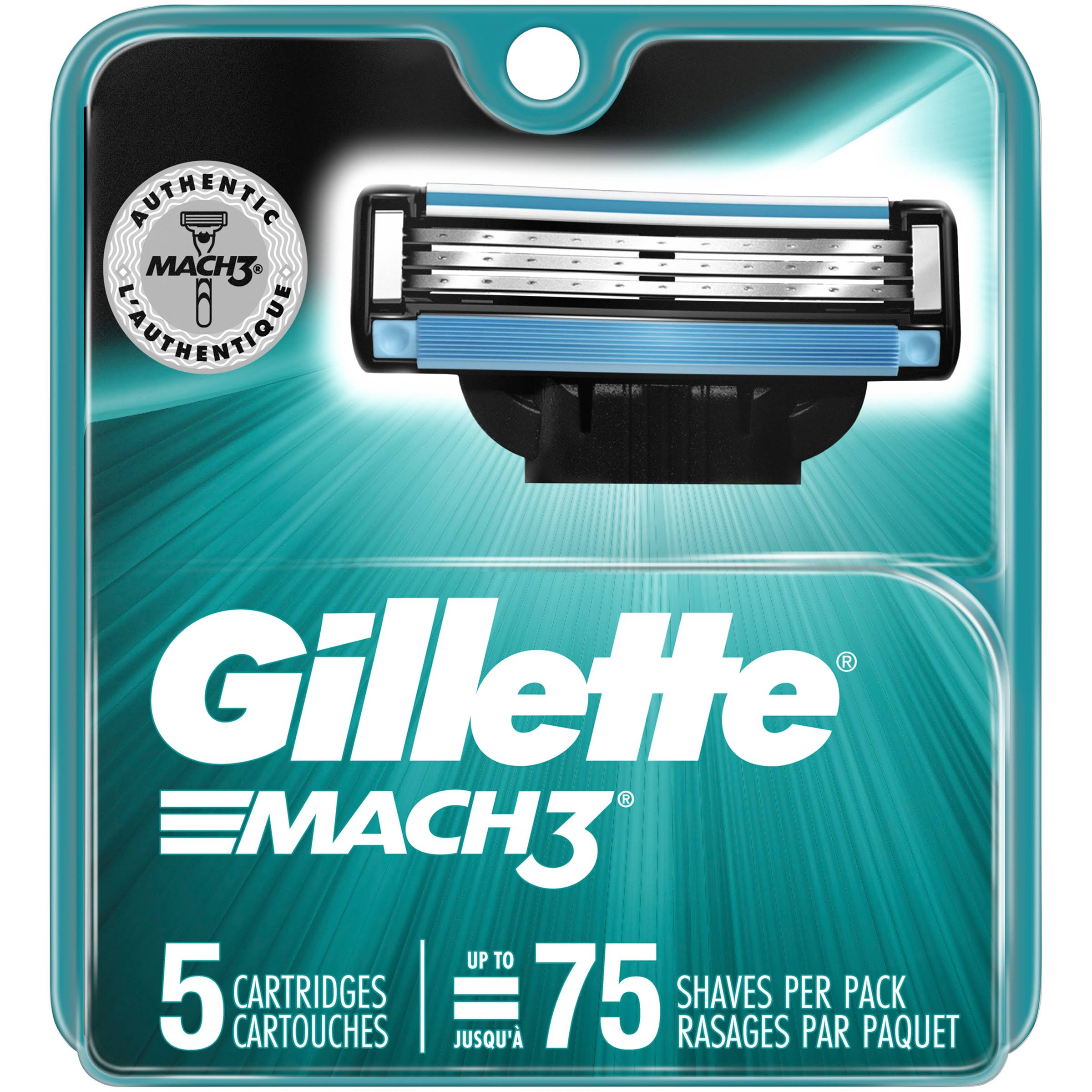 Gillette Mach3 Razor Cartridges - 5ct