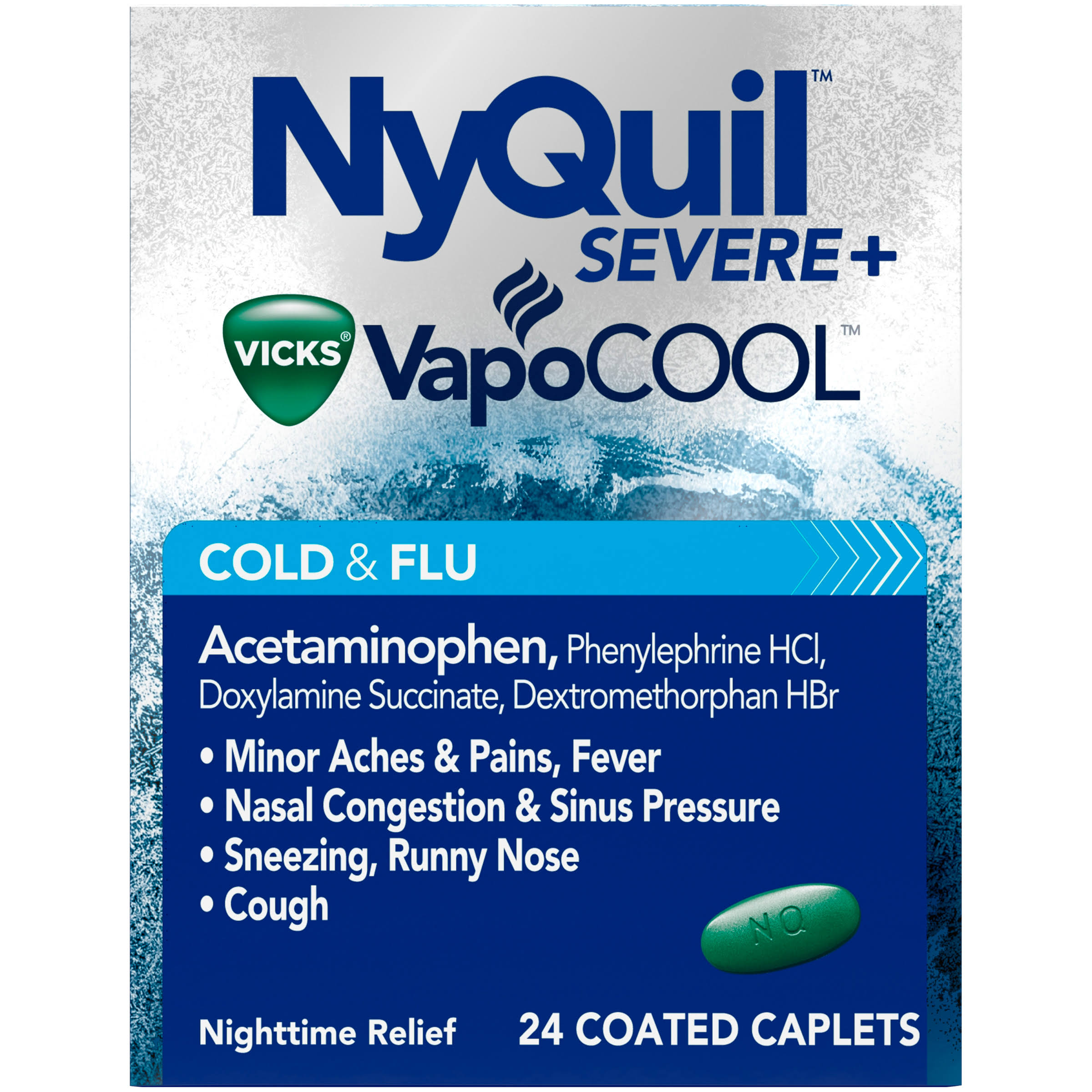 Vicks NyQuil Severe Cold & Flu Night Time Relief - 24ct