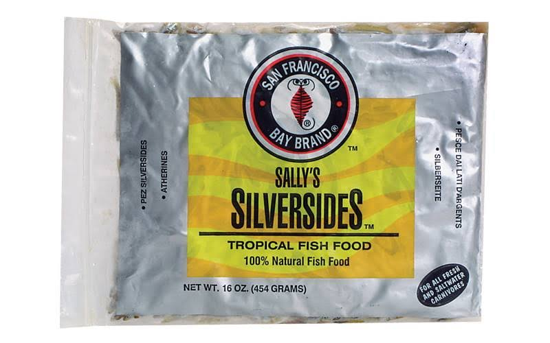San Francisco Bay Brand Sally's Frozen Silversides Tropical Fish Food - 453g
