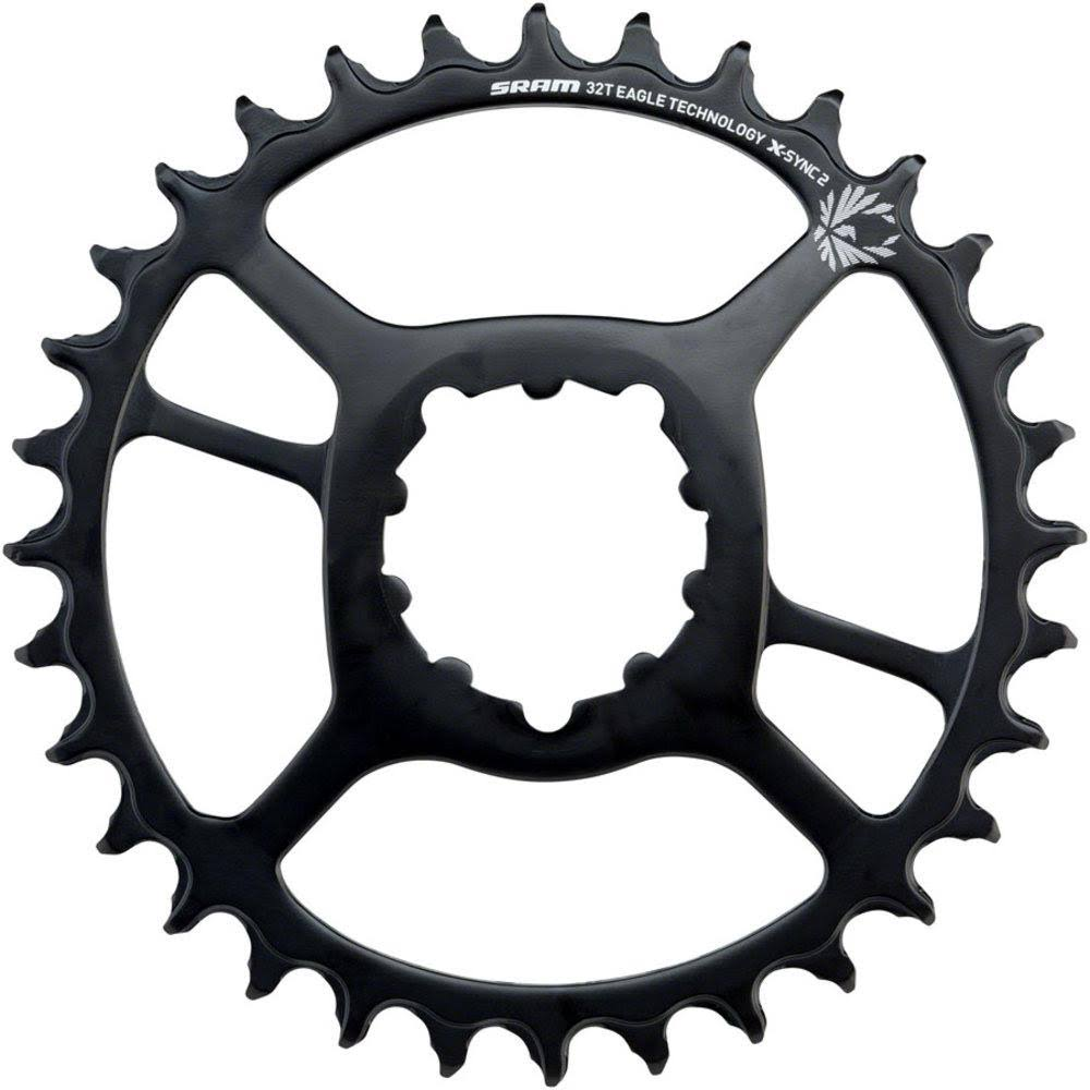 SRAM X-Sync 2 Steel Direct Mount Chainring - Black, 34T, 6mm