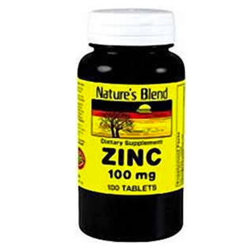 Nature's Blend Zinc Gluconate 100 mg, Tablets, 100 EA