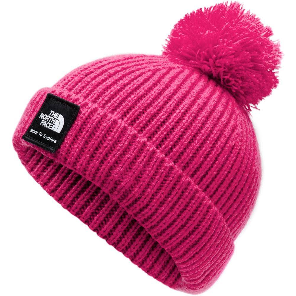 The North Face Baby Box Logo Pom Beanie Mr Pink / XS