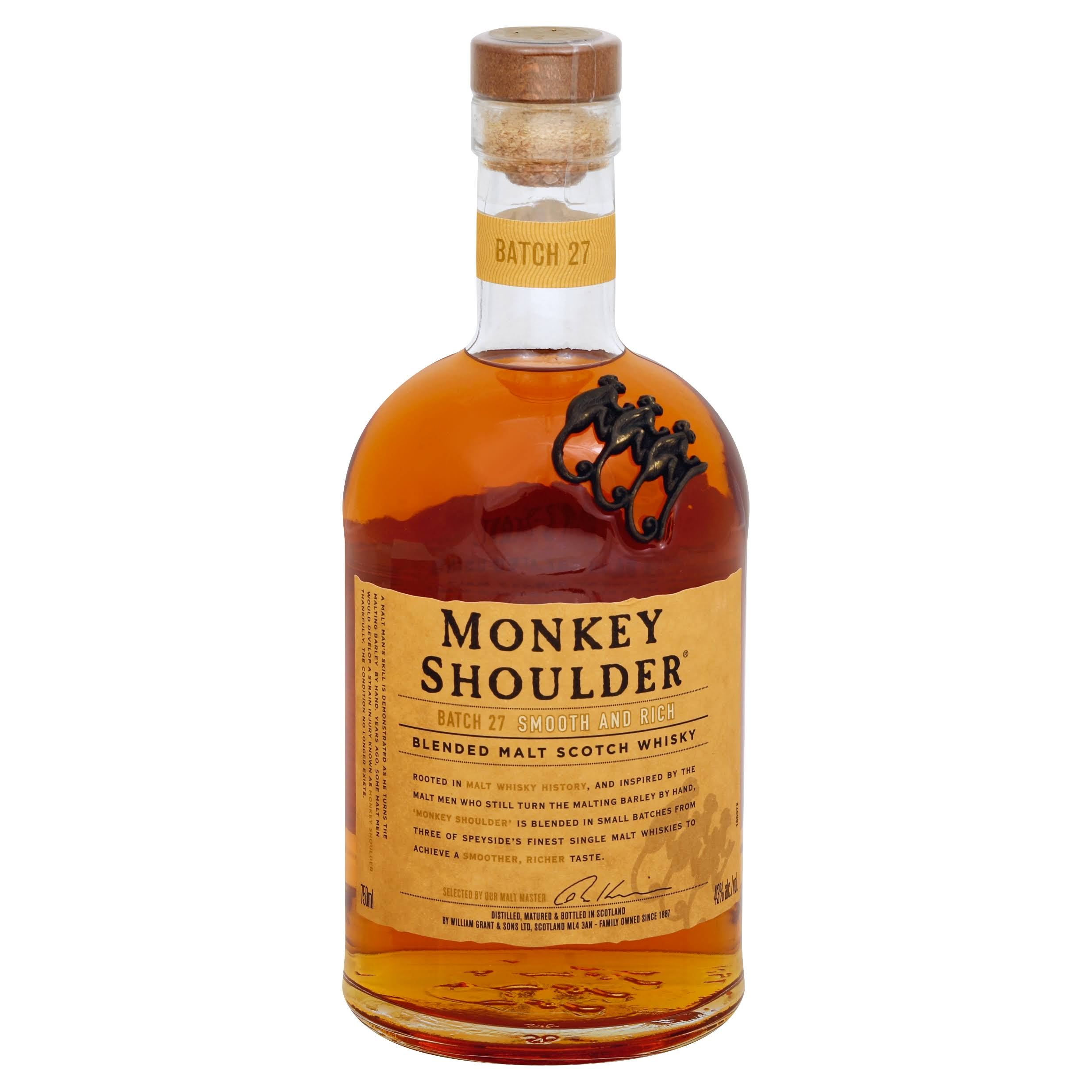Monkey Shoulder Blended Malt Scotch Whisky - 750ml