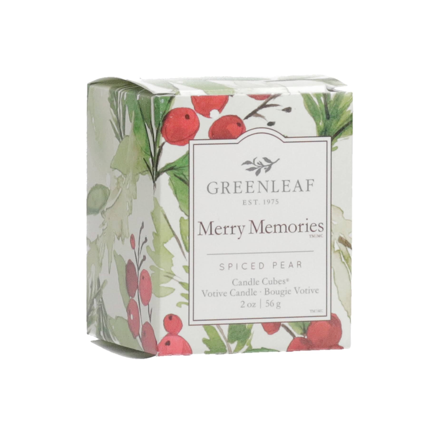 Greenleaf Gifts Merry Memories Candle Cube Votive