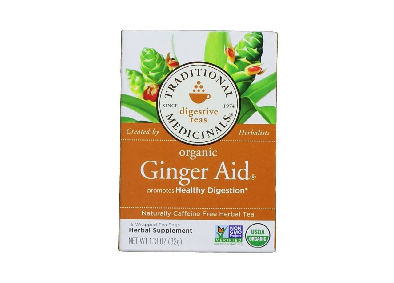 Traditional Medicinals Organic Ginger Aid Tea - 16 Bags, 1.13oz