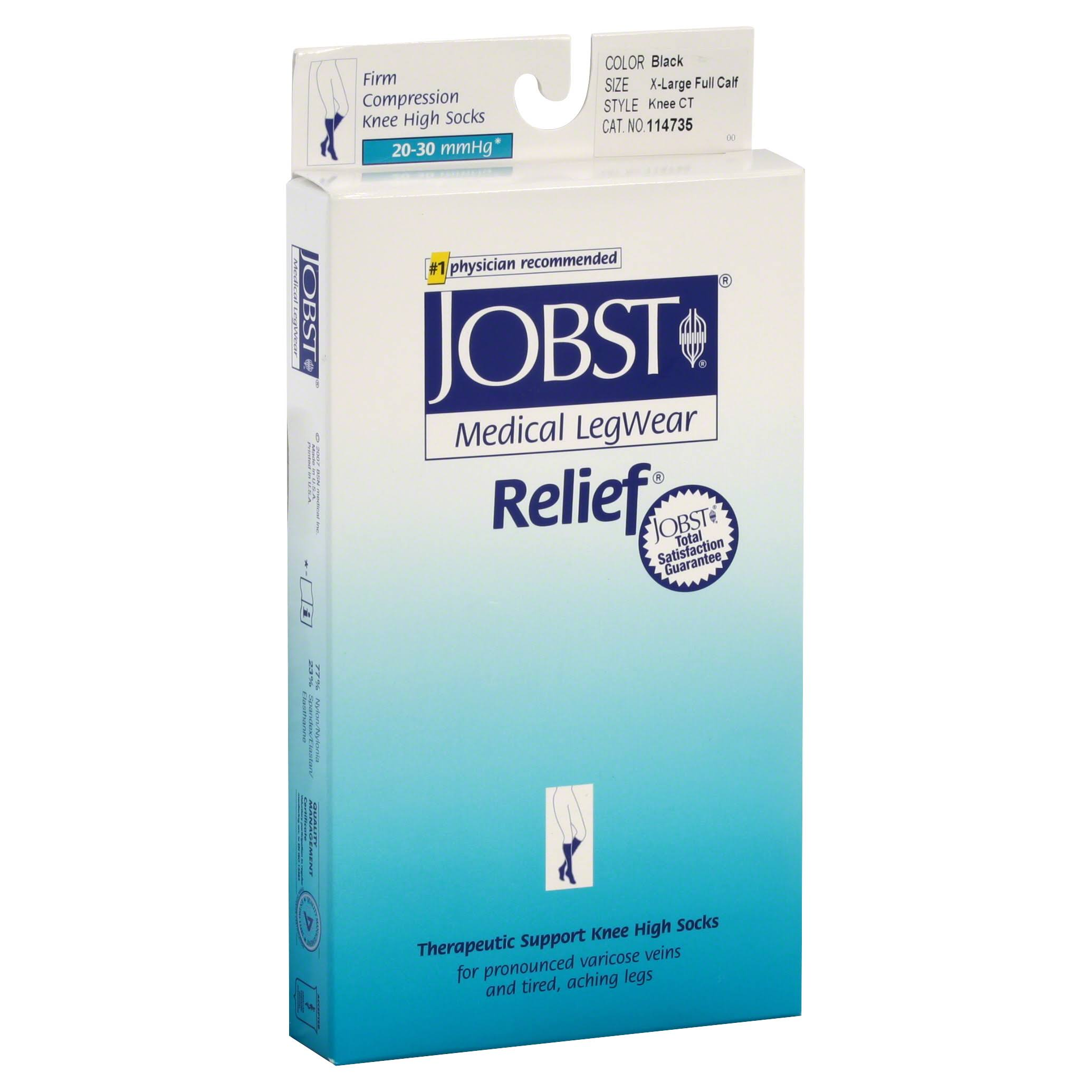Jobst Relief Therapeutic Support Knee High Socks - Black, X-Large