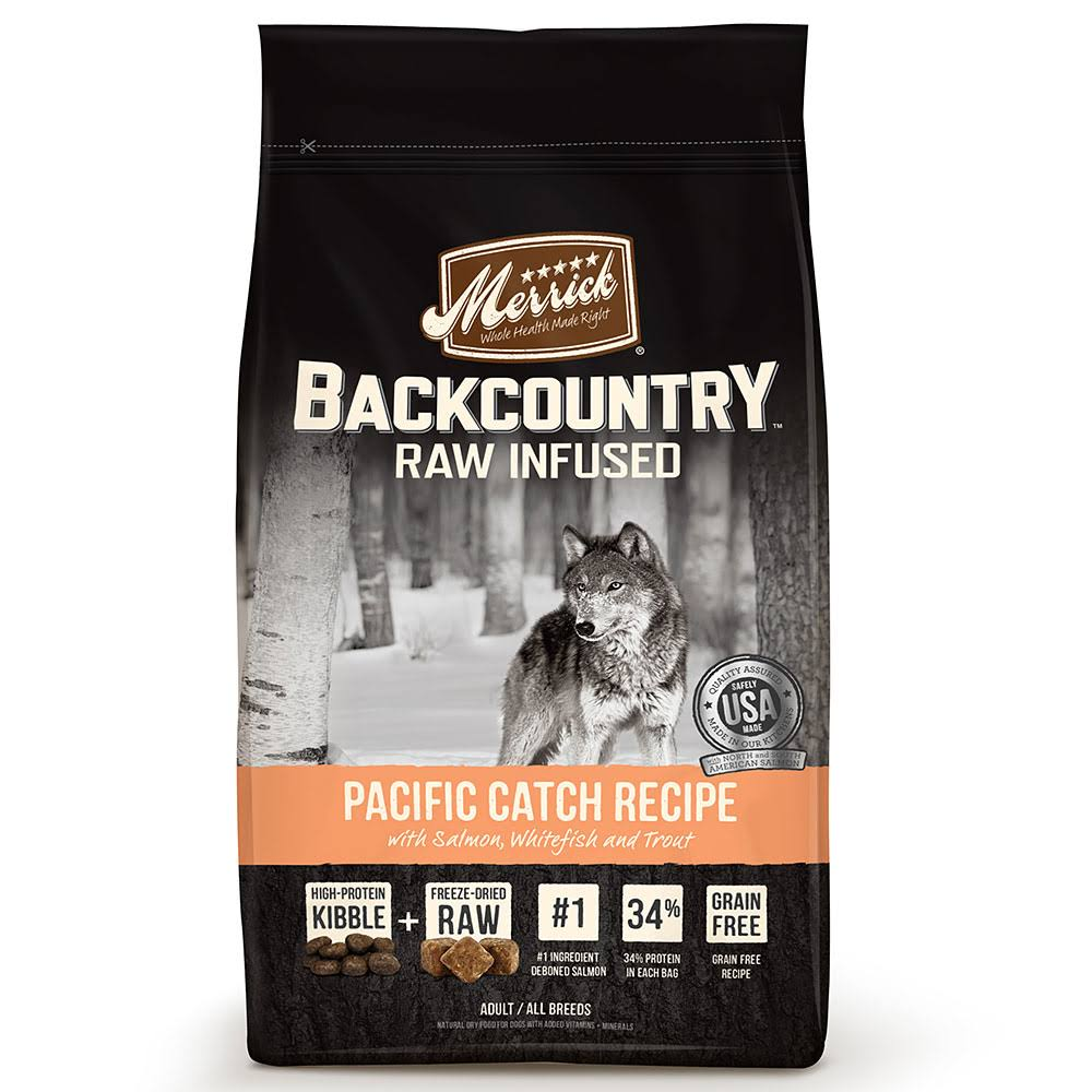 Merrick Backcountry Raw Infused Grain-Free Adult Dry Dog Food - Pacific Catch Recipe, 4lbs