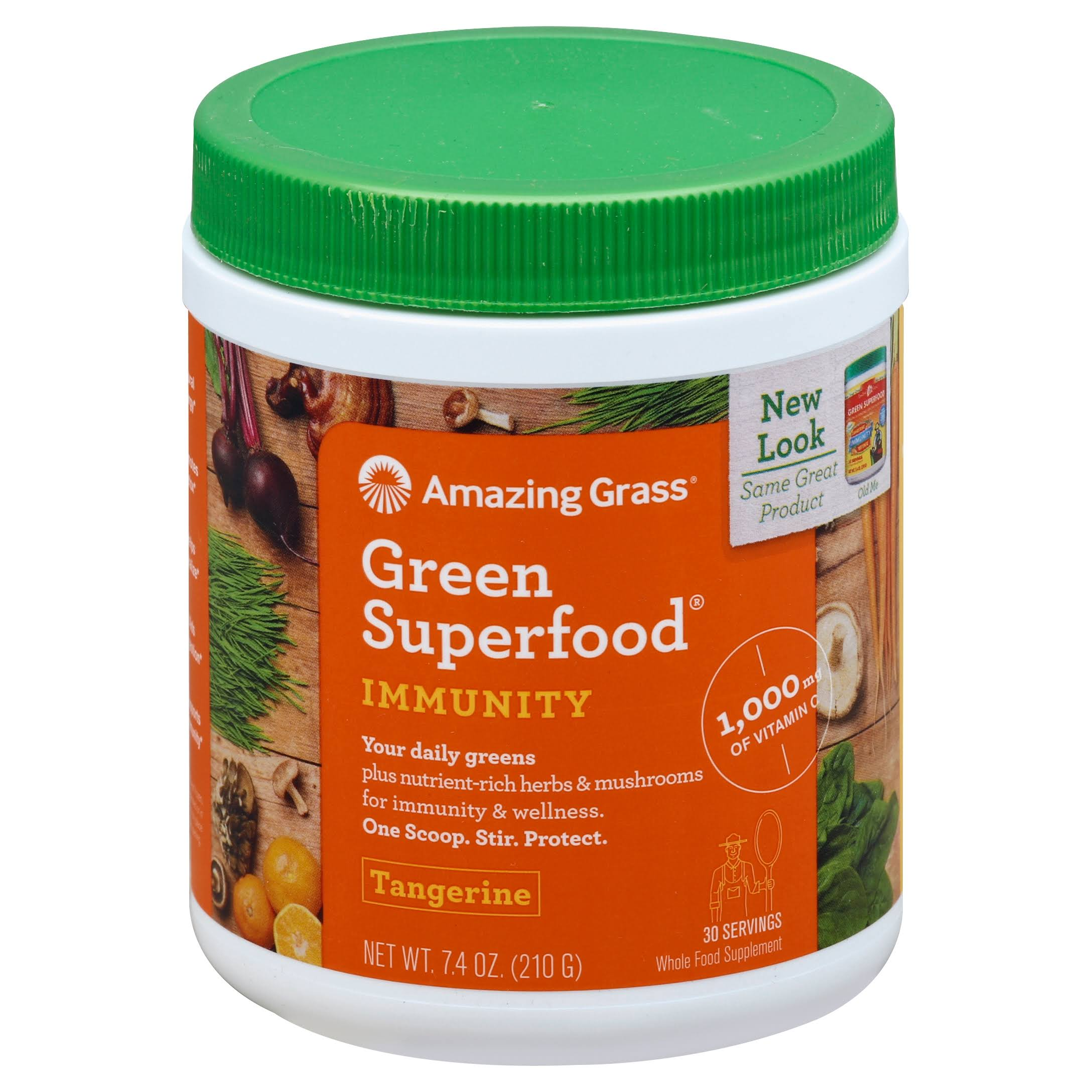 Amazing Grass Green Superfood Immunity Defense Supplement - Tangerine, 30 Servings, 7.4oz