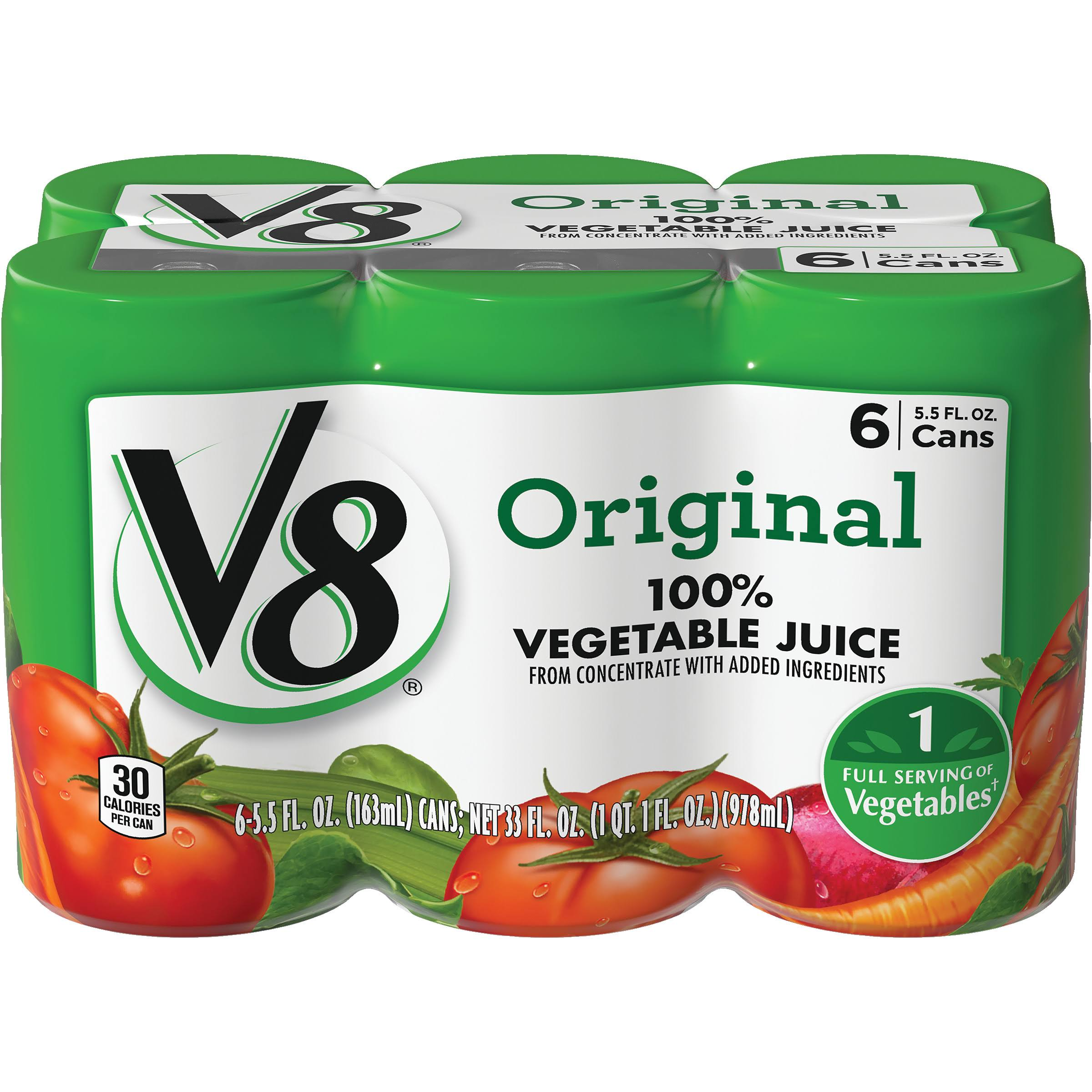 V8 Original Vegetable Juice - 5.5oz, 6pk