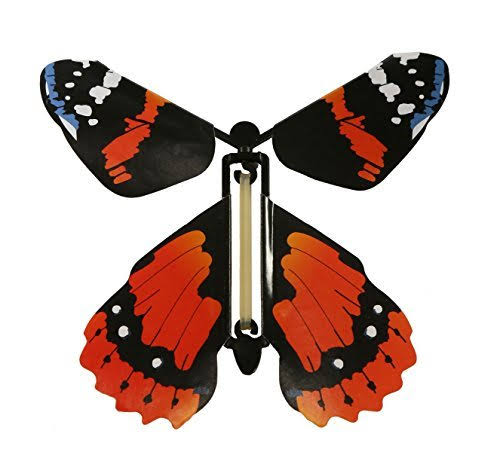 Insect Lore Rubber Band Powered Wind Up Flying Toy - Butterfly