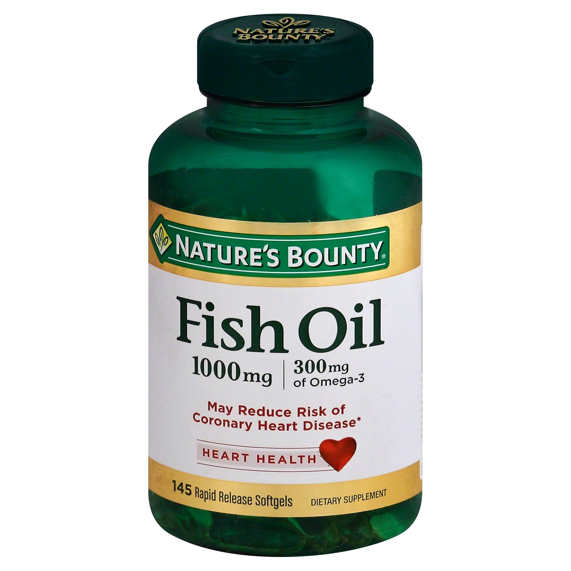 Nature's Bounty Fish Oil Dietary Supplement - 145 Rapid Release Softgels