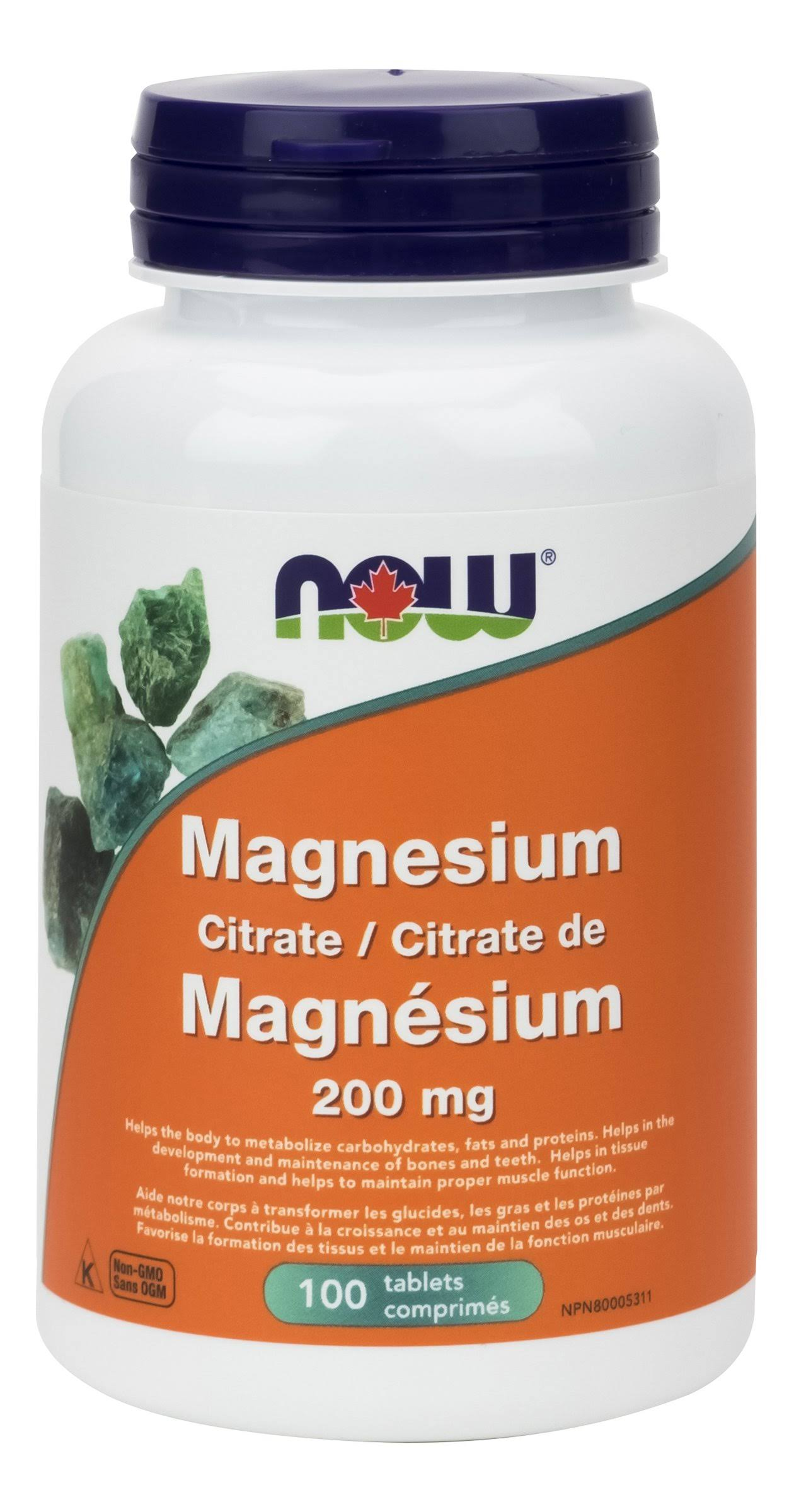 Now Foods Magnesium Citrate Dietary Supplement - 200mg, 100 Tablets