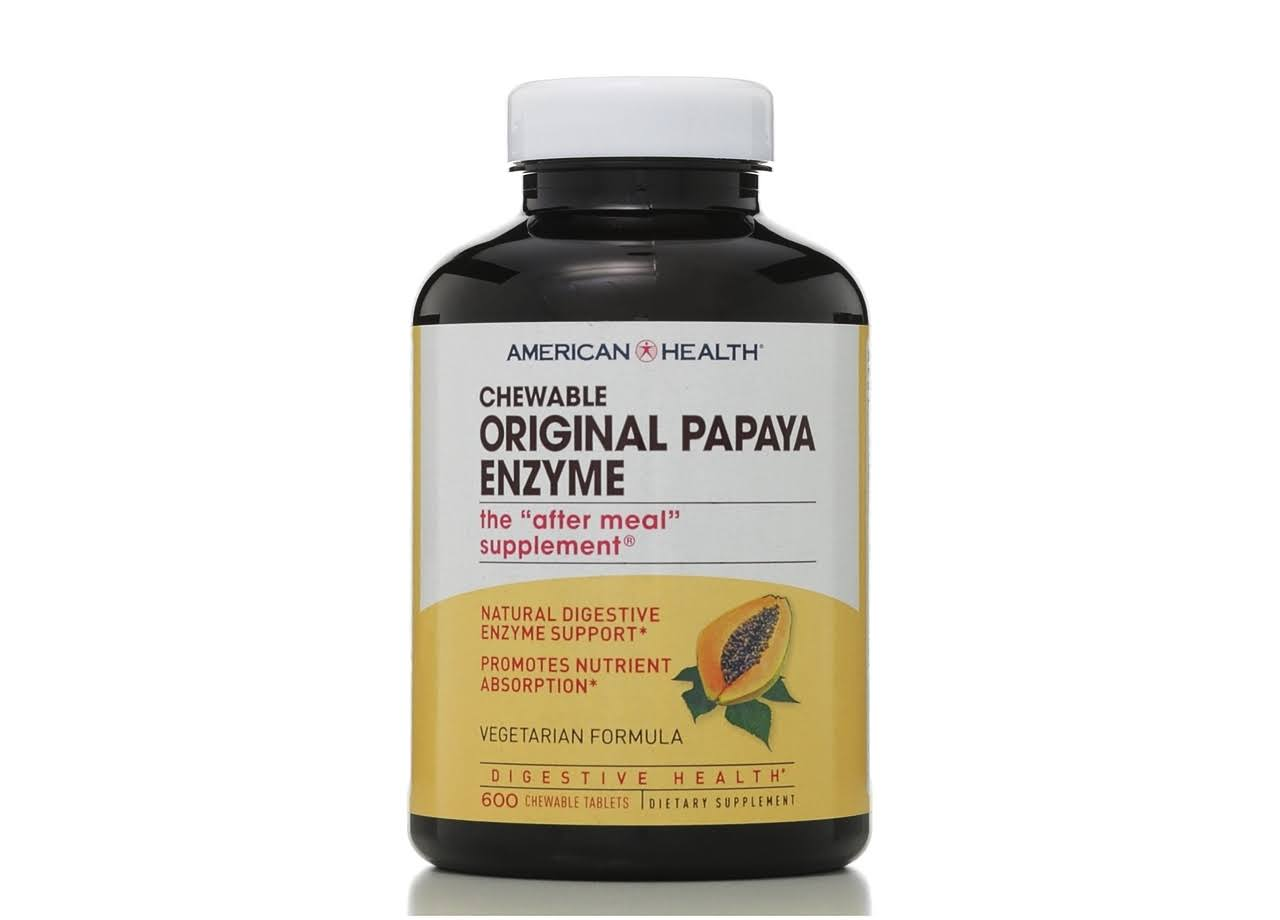 American Health Original Papaya Enzyme - 600 Chewable Tablets