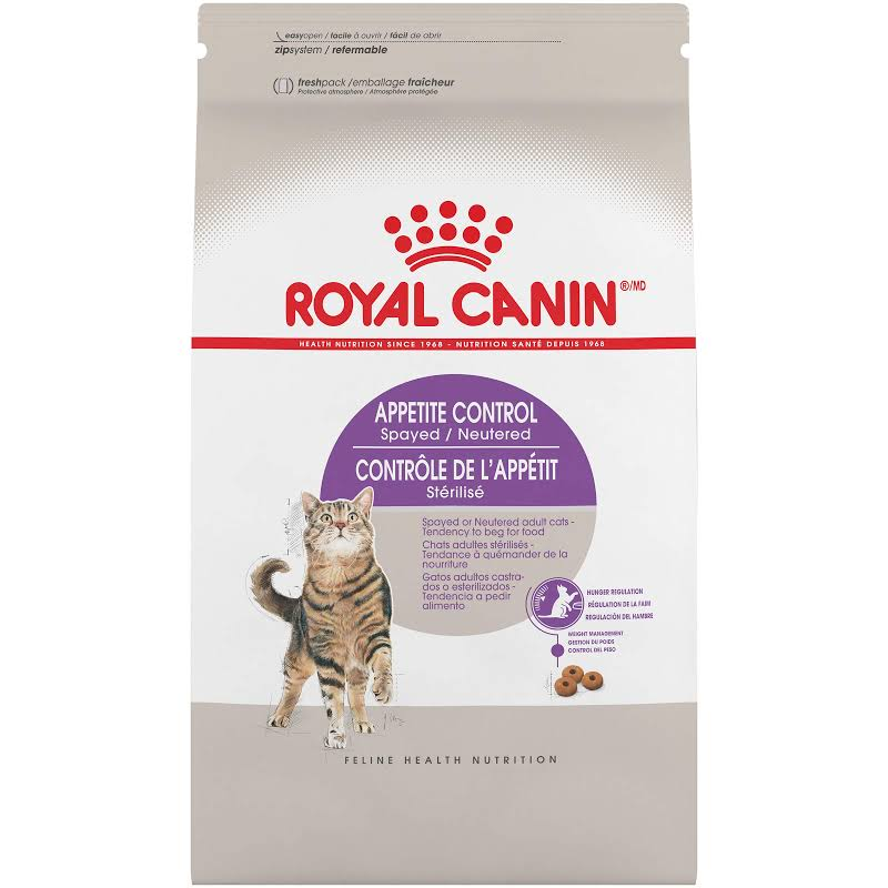 Royal Canin Feline Health Nutrition Appetite Control Spayed / Neutered Dry Adult Cat Food, 6 lbs.