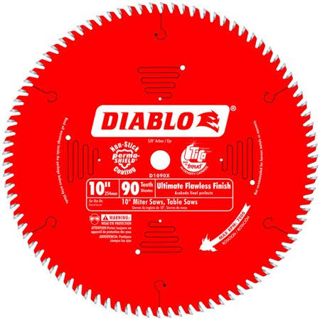 Diablo Ultimate Flawless Finish Saw Blade - 10 in x 90 Tooth