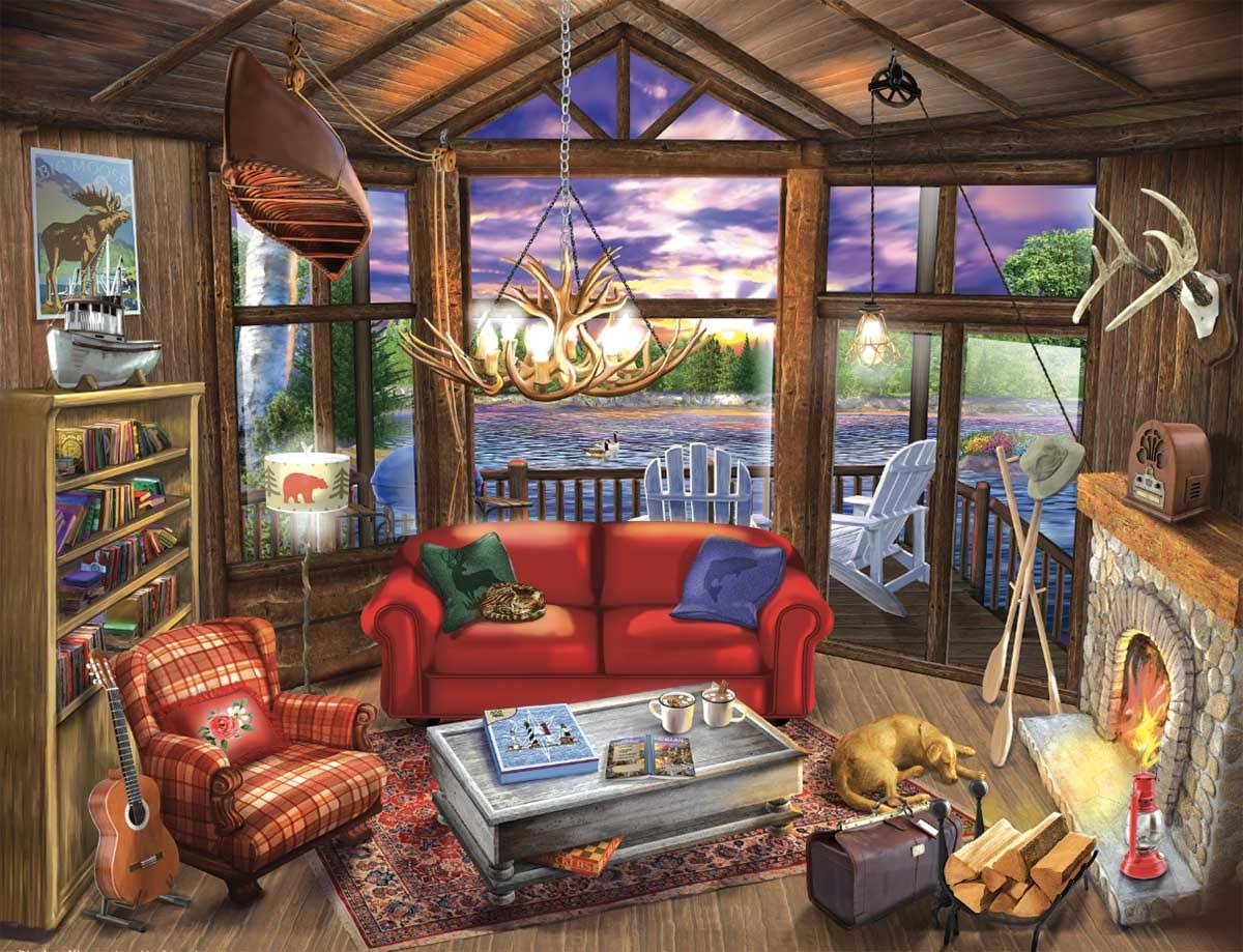 Evening at The Lake - 500pc Jigsaw Puzzle by Sunsout