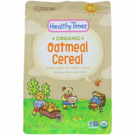 Healthy Times Organic Oatmeal Cereal 5 oz