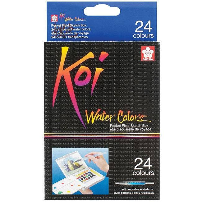 Koi Watercolors Pocket Field Sketch Box - 24 Pack
