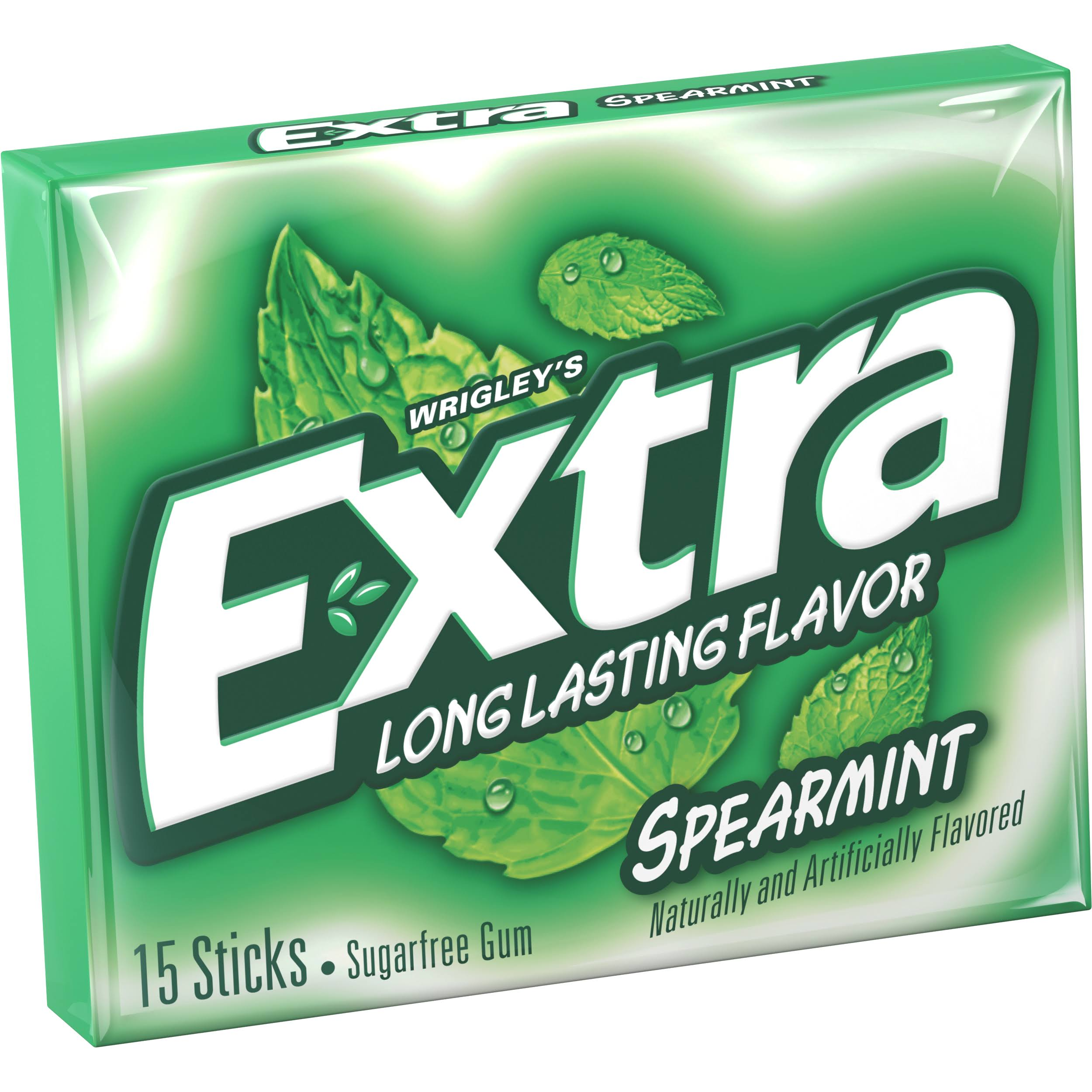 Wrigleys Extra Sugar Free Chewing Gum - 15 Sticks, Spearmint