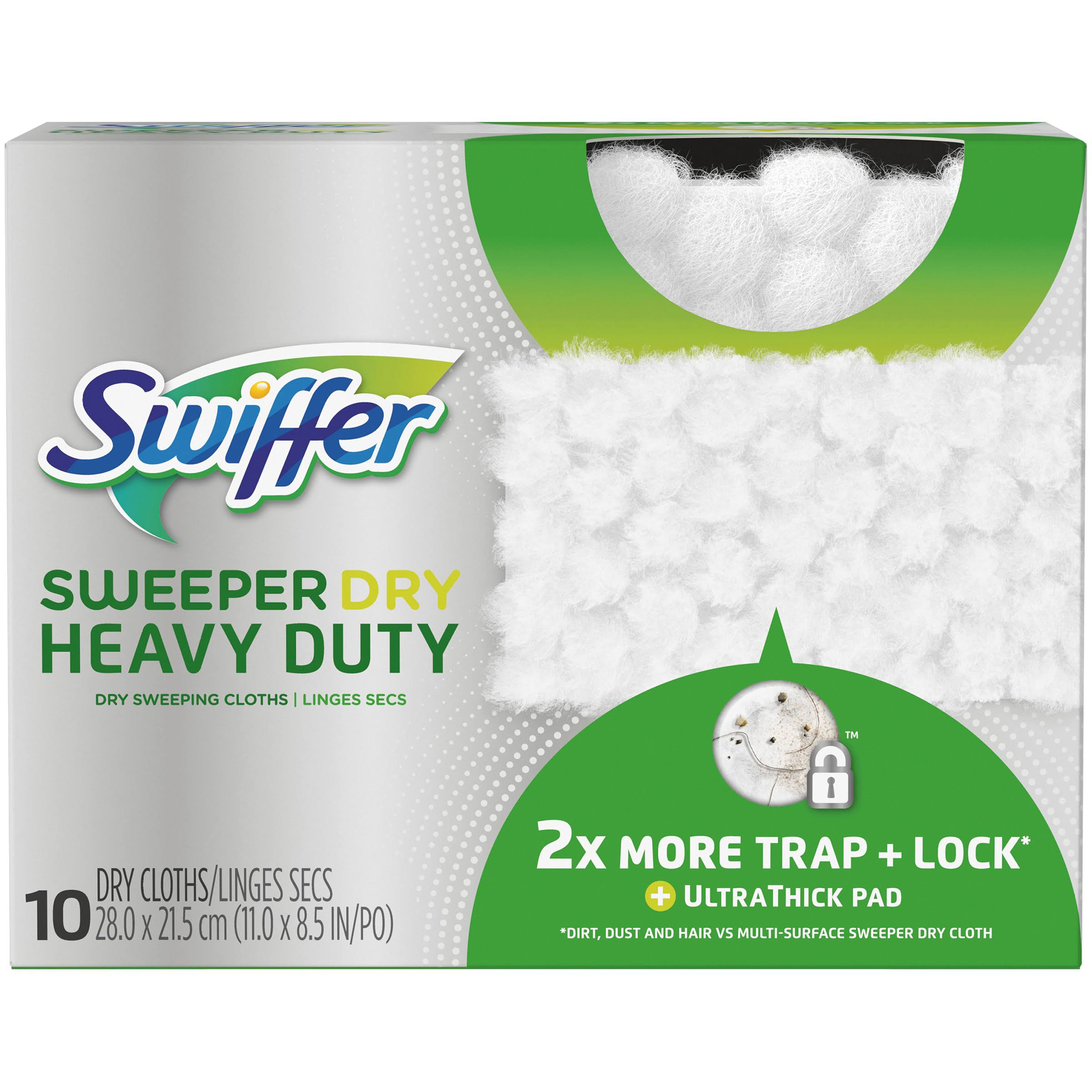Swiffer Sweeper Dry Heavy Duty Dry Sweeping Cloths - 10ct