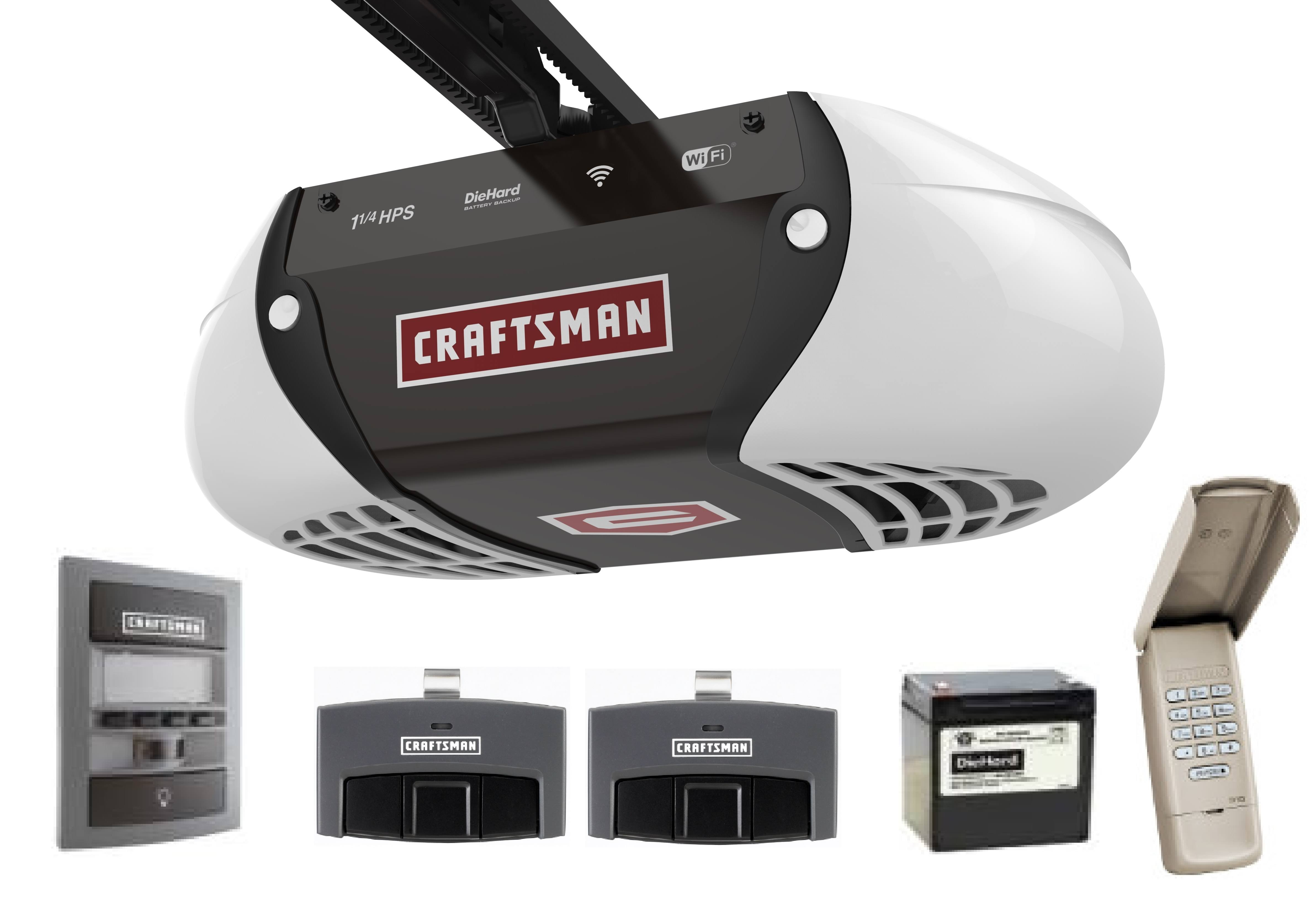 Craftsman Smart Garage Door Opener 1 1/4 HPS 2 Remotes Control