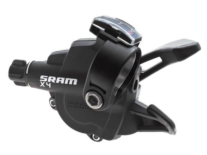 SRAM Trigger Shifter Set - Black, 3 x 8 Speed Front and Rear, 4 Pieces