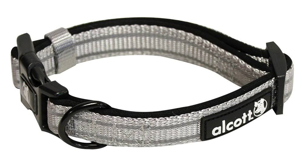 Alcott Essentials Adventure Dog Collars - Gray, Large
