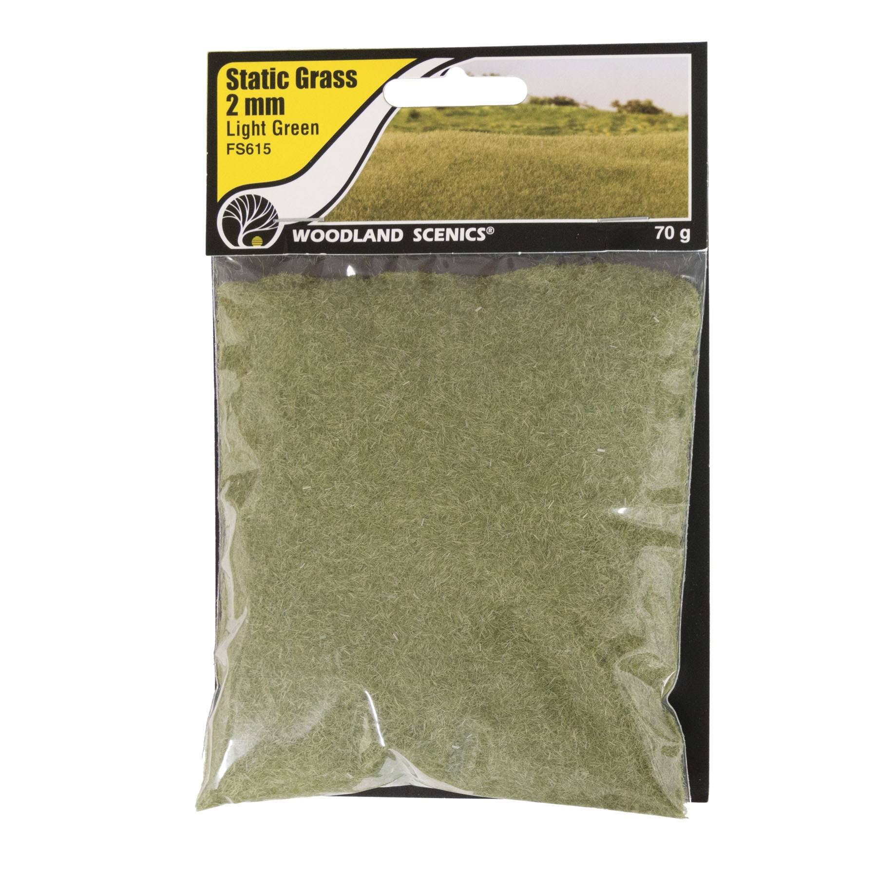 Woodland Scenics FS615 Static Grass Light Green 2mm