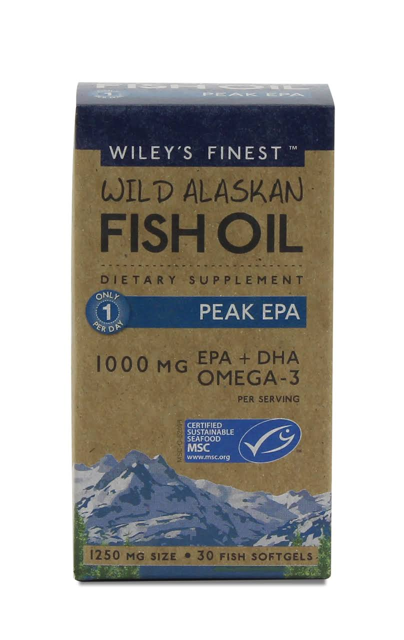Wiley's Finest Wild Alaskan Fish Oil - 30 Fish Gels
