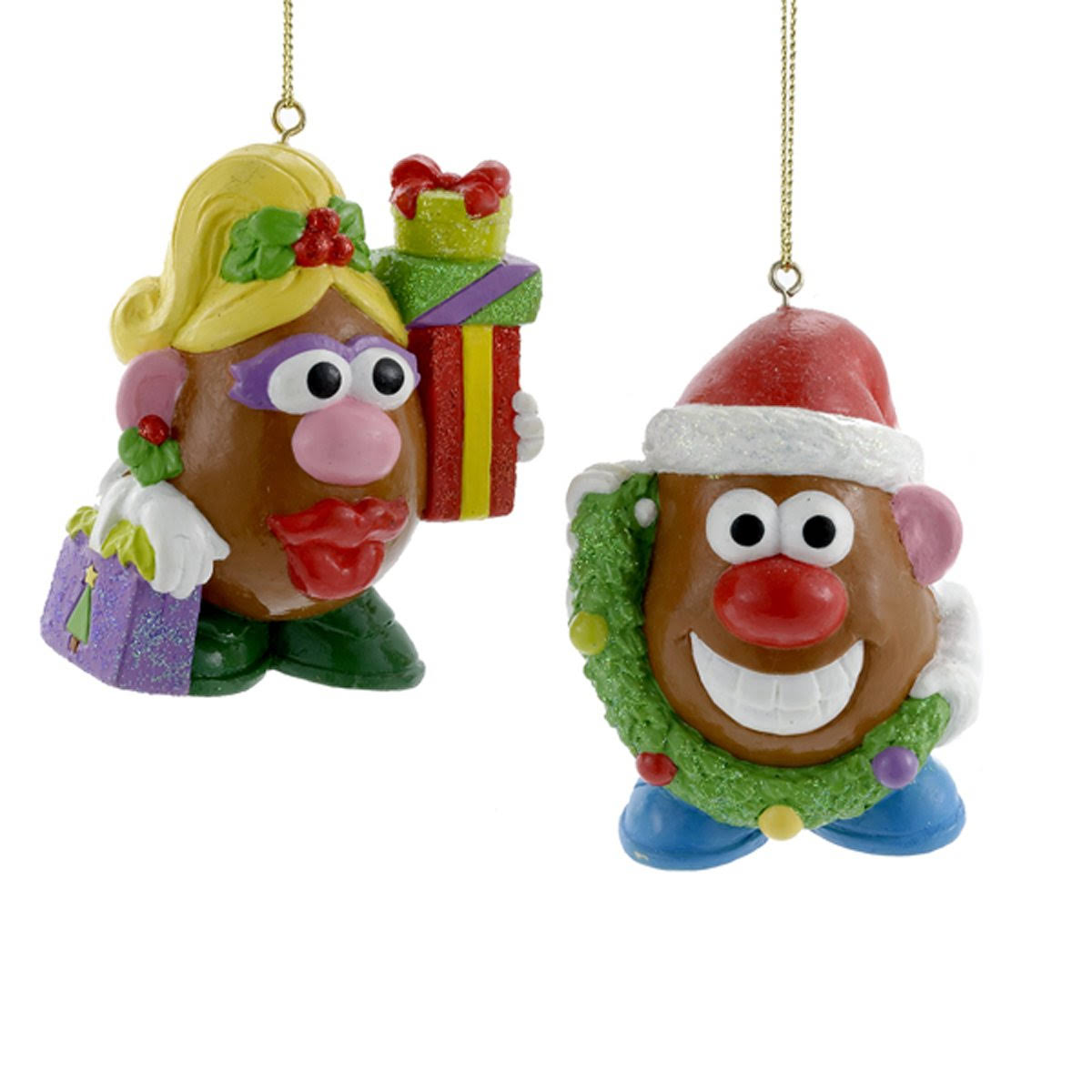 Mr. & Mrs. Potato Head Glass Ornament Set