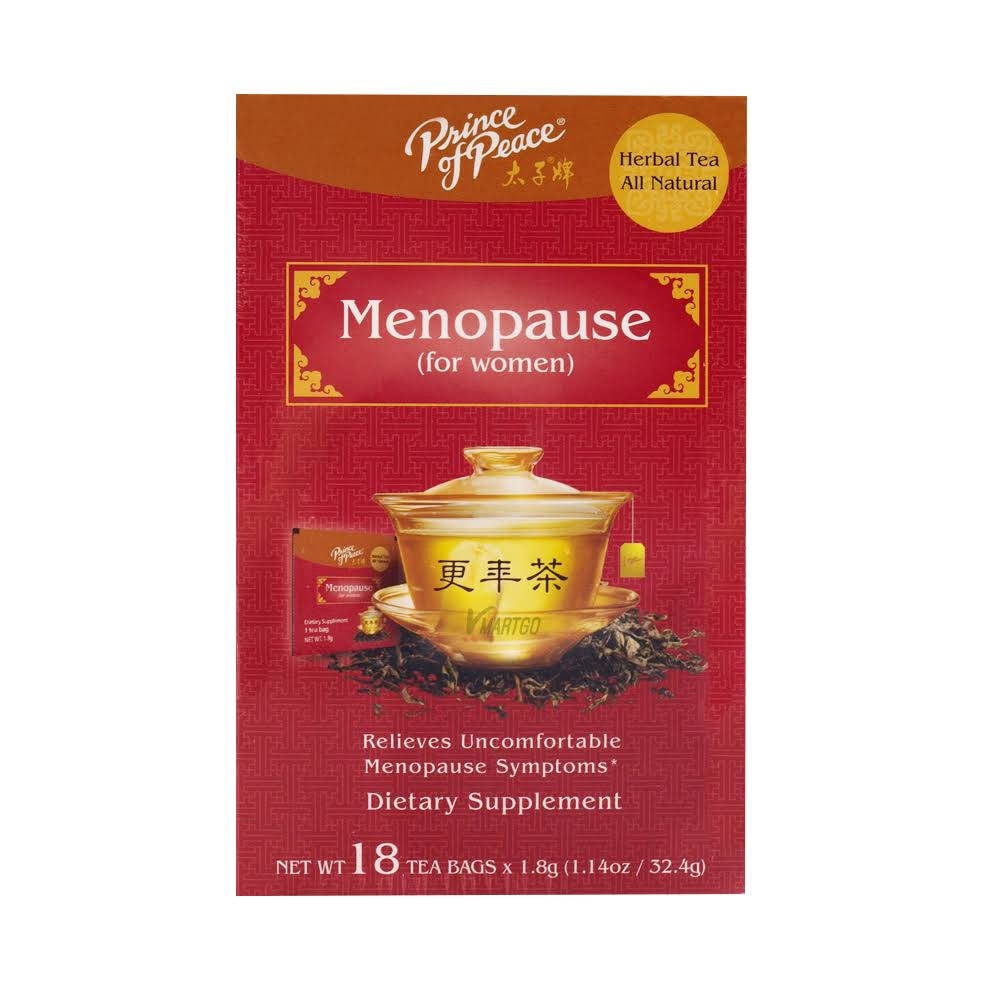 Prince of Peace All Natural Herbal Tea Menopause for Women 18 Tea Bags