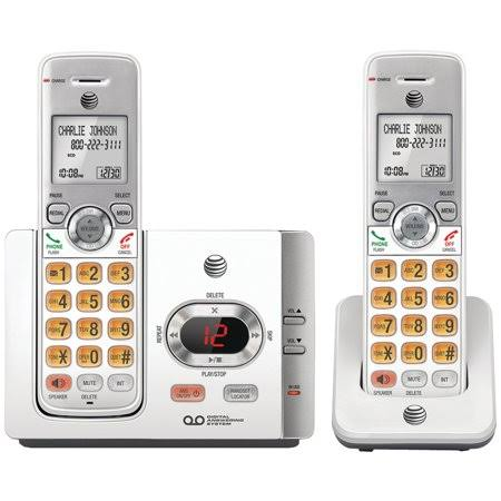 AT&T EL52215 Cordless Handset Phone System - With Answering Machine, Caller ID, 2pc
