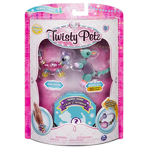 Twisty Petz - 3 Pack - Pixie Mouse, Radiant Roo & Surprise Collectible Bracelet