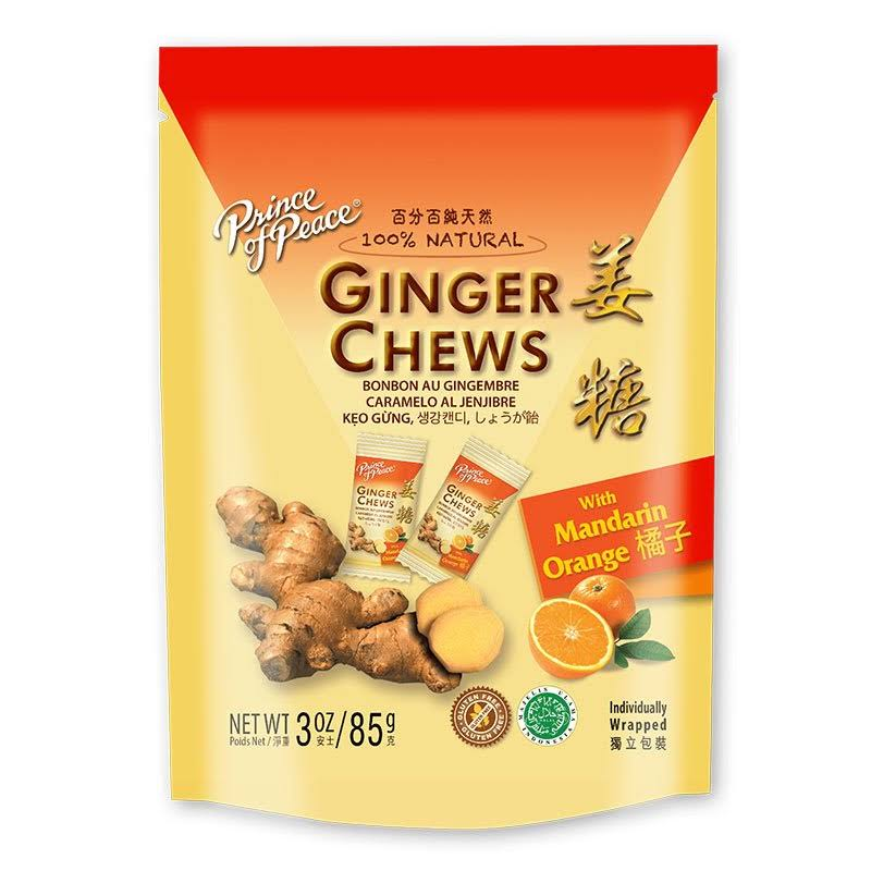 Prince of Peace Ginger Chews - with Mandarin Orange, 3oz