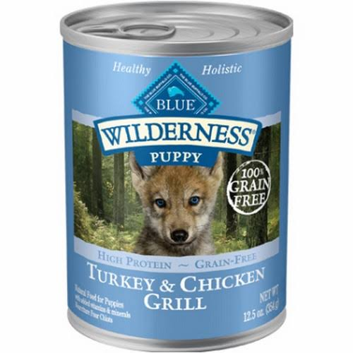 Blue Buffalo Wilderness High Protein Wet Puppy Food - Turkey & Chicken Grill