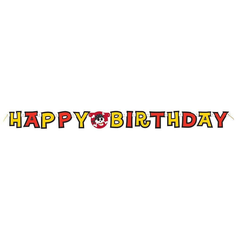 1.7m Pirate Party Happy Birthday Banner