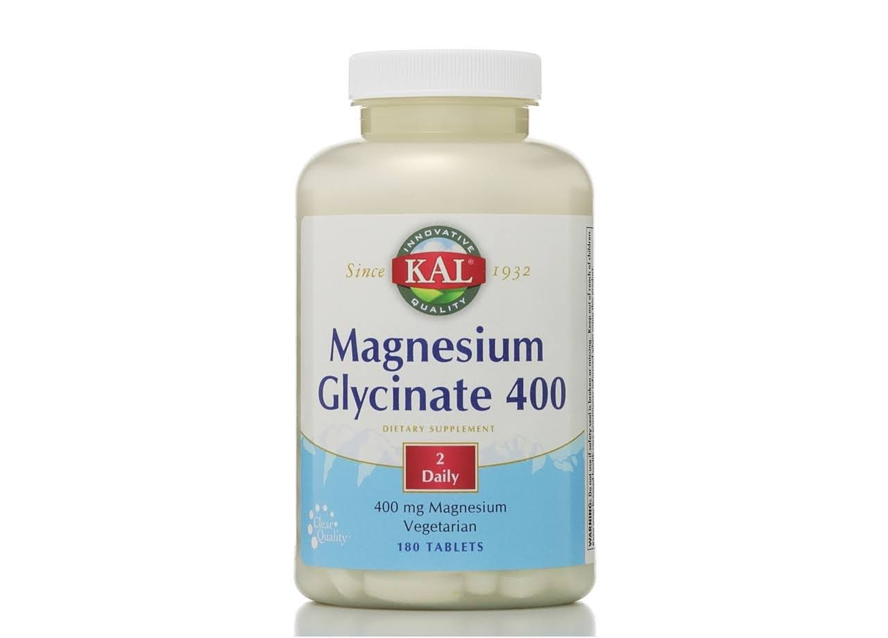 Kal Magnesium Glycinate 400 - 400mg, 180 Tablets