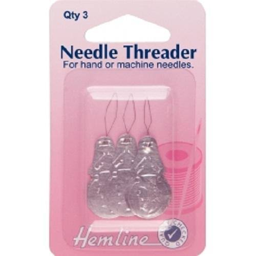 Hemline Aluminium Needle Threader - x3