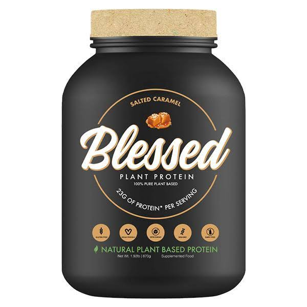 Blessed Plant Based Superfood Protein, 23g of Protein,Vegan Friendly, Salted Caramel, 2lb Bottle