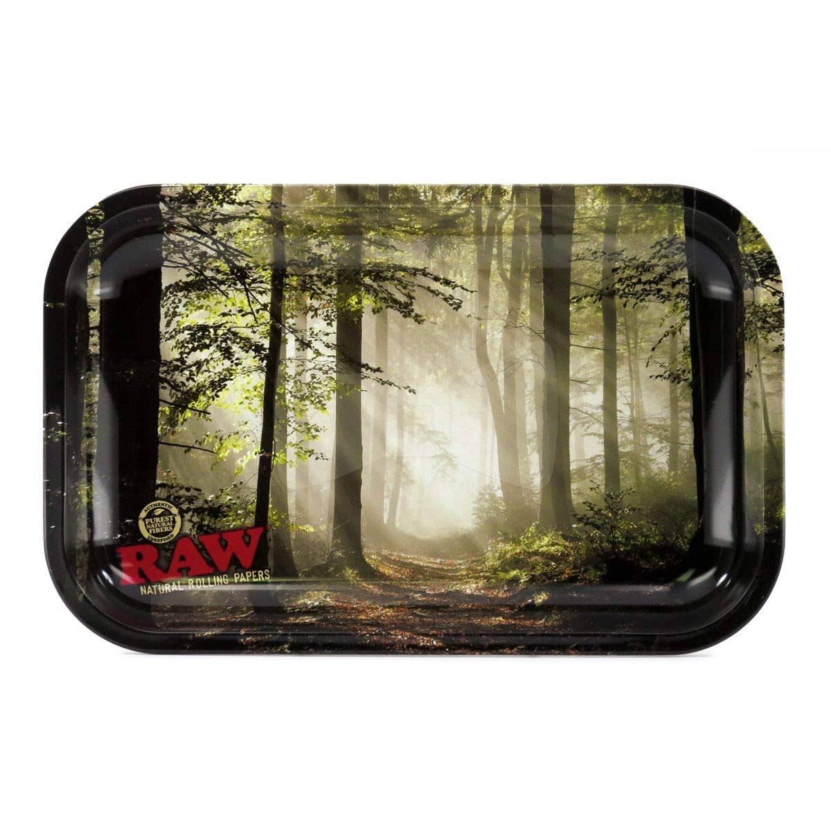 Raw Small Forest 18595 Metal Rolling Tray 27.5 x 17.5 cm Tin
