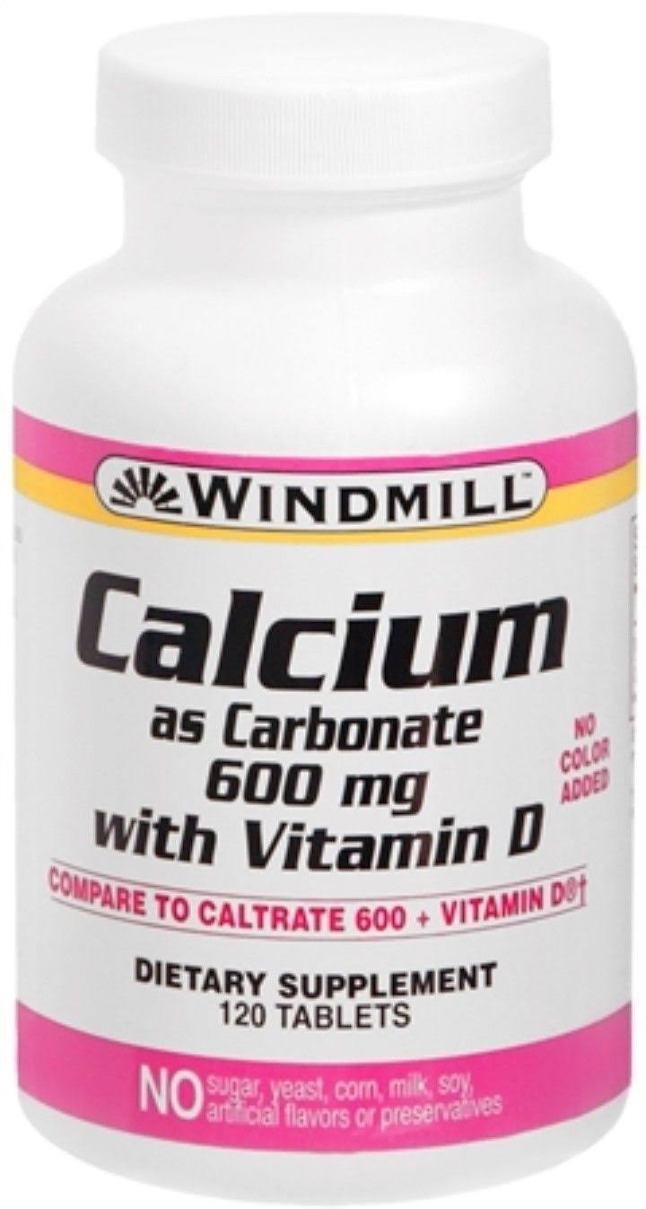 Windmill Calcium Carbonate - 600mg, 120 Tablets