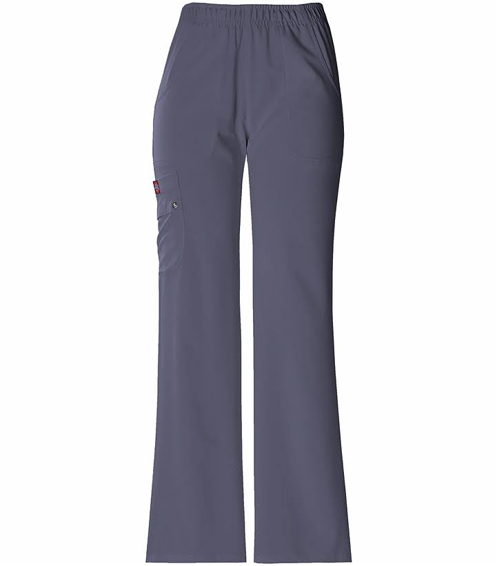 Dickies 82012 Elastic Waist Pull On Scrub Pant - Pewter, Medium Petite