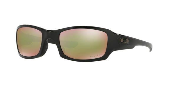 Oakley Fives Squared Prizm Shallow Polarized Polished Black Sunglasses