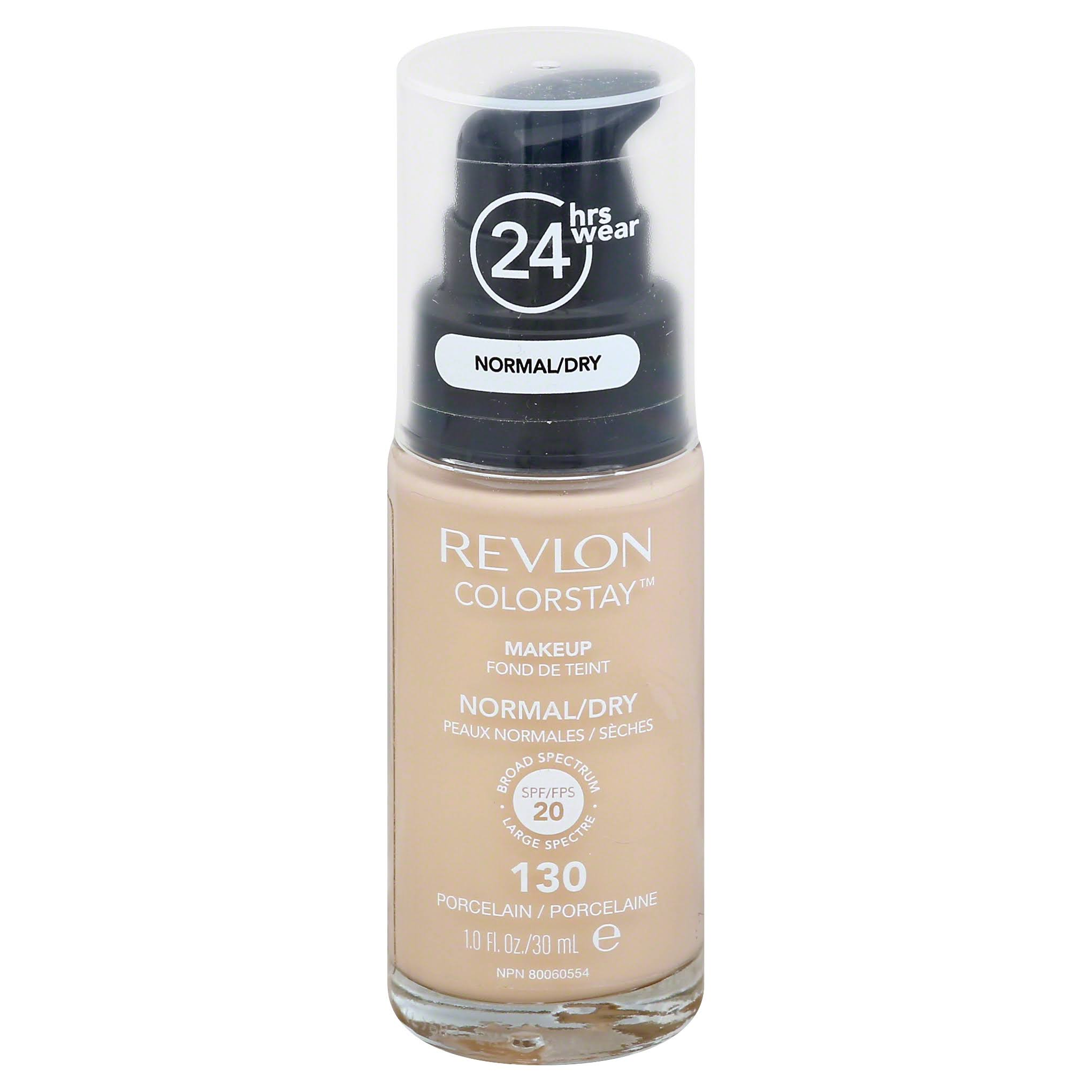 Revlon Colorstay Makeup For Normal and Dry Skin Foundation - 130 Porcelain, 30ml