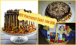 Cake Decoration Ideas For A Man by Diy Easy Pinterest Birthday Cake For Him Birthday Gift Basket