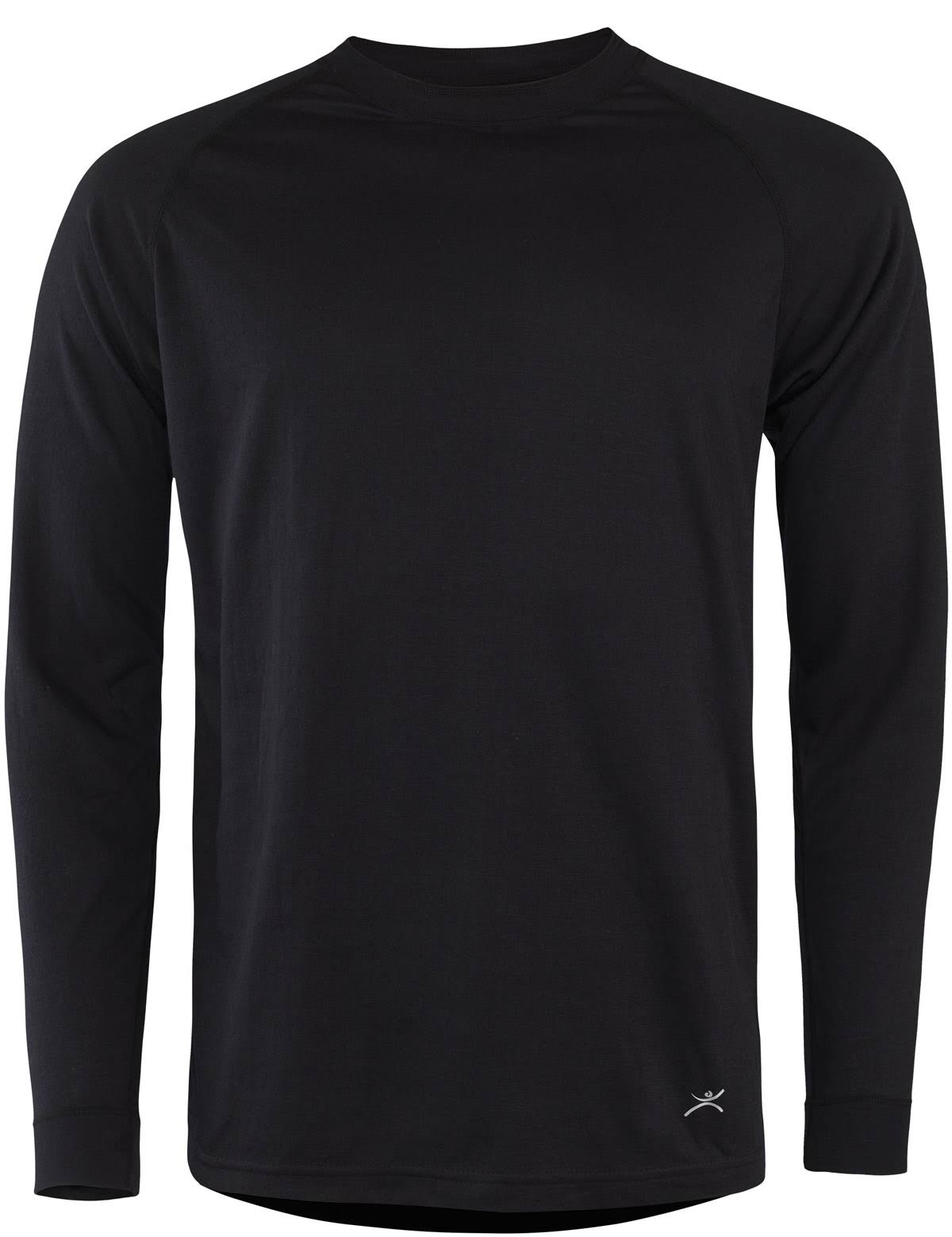 Terramar Sports Men's 2 Layer Authentic Thermal Crew - Black, Medium