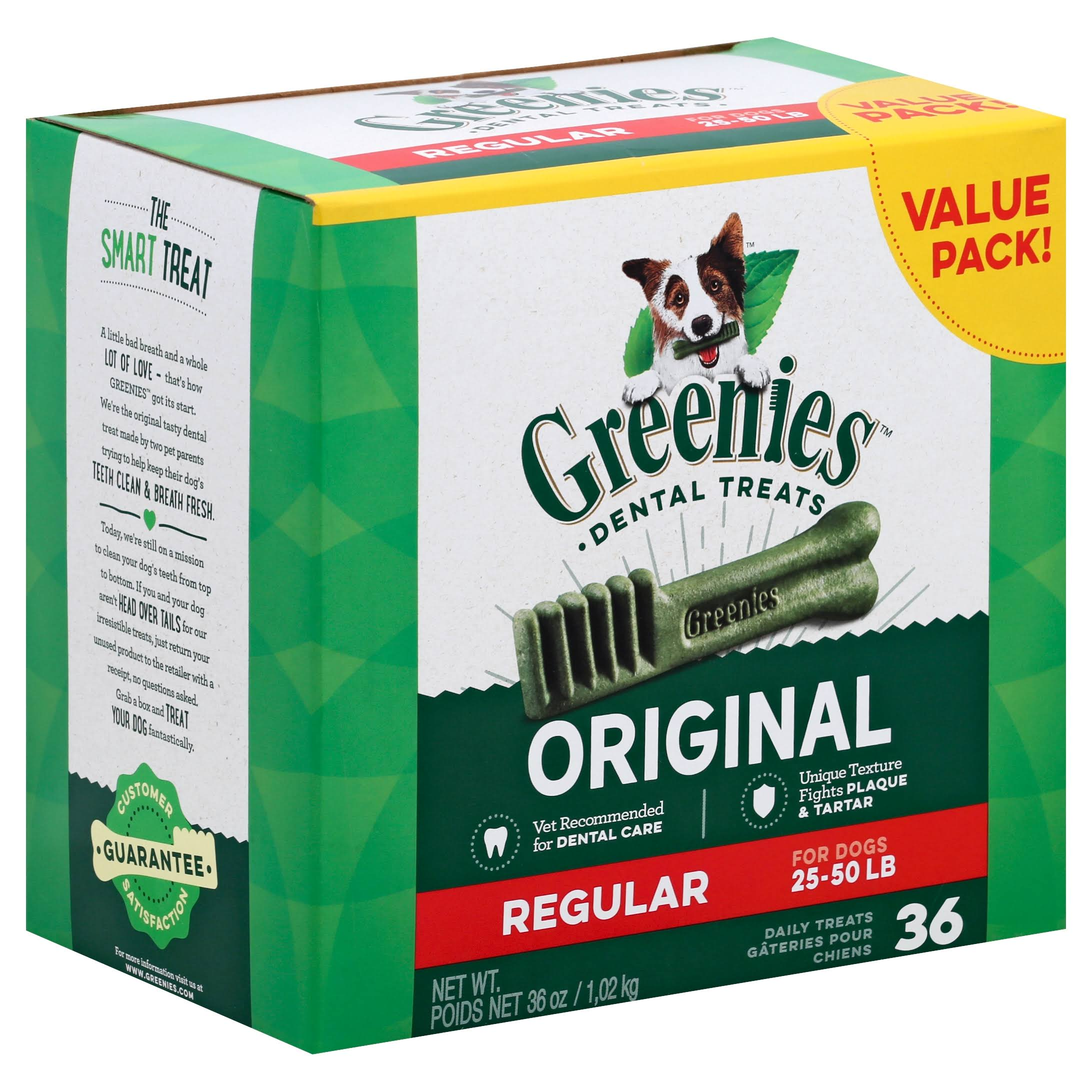 Greenies Original Dog Dental Chews - 36oz, Regular Size