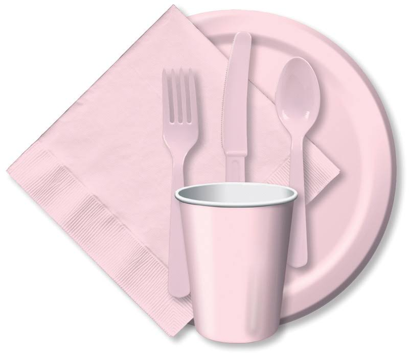 Creative Converting Touch of Color Paper Lunch Plates - 24ct, Classic Pink
