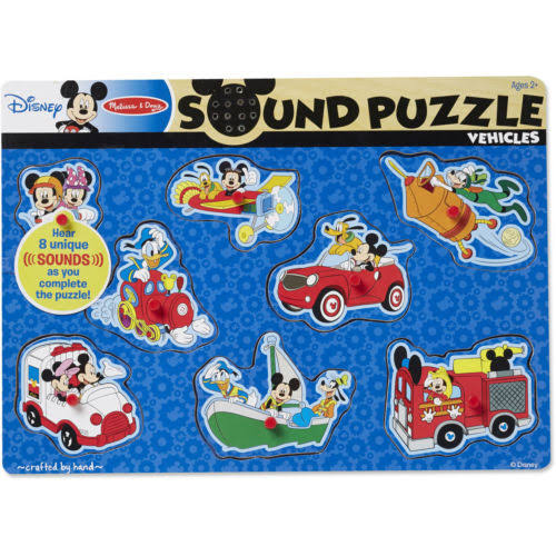 Melissa and Doug Disney Wooden Sound Puzzles - 8pcs