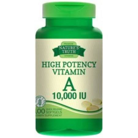 Nature's Truth Vitamin A 10,000 IU Quick Release Softgels, 100 EA